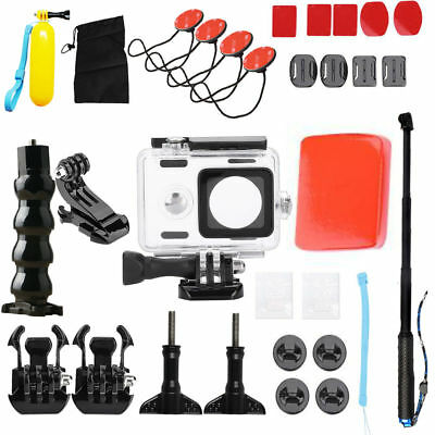Action Camera Waterproof Housing Case Diving Accessory Kit for Xiaomi Yi Cam HP