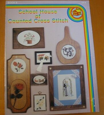 School House Of Counted   Cc-6  Cross Stitch Leaflet