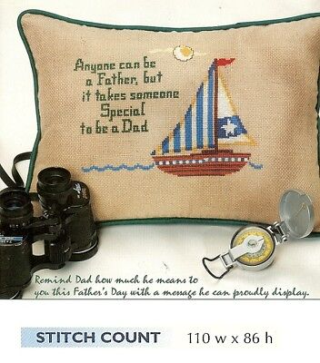 QUW FATHER FOREVER MY HERO.. CROSS STITCH PATTERN ONLY    HM