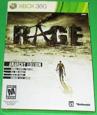 Rage Anarchy Edition Xbox 360 w/ Sleeve! *New! *Factory Sealed! *Free Ship!