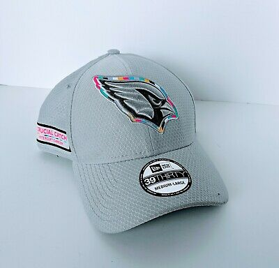 low priced 5a6d3 33fe6 New Era Crucial Catch Hat Cap Arizona Cardinals Cancer 39Thirty M L NWT