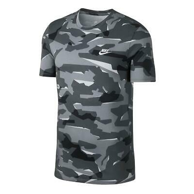 bfcfb2f8 Nike Sportswear NSW Shirt Camo AJ6631-012 Tee Camouflage Military Men's M  Medium