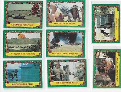 Raiders of the Lost Ark 1981 Trading Cards #65-68, 70-73 * LOT of 8 cards