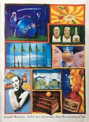 1995 GRAND MARNIER Liqueur Less Mysterious Than Meaning of Life PRINT AD