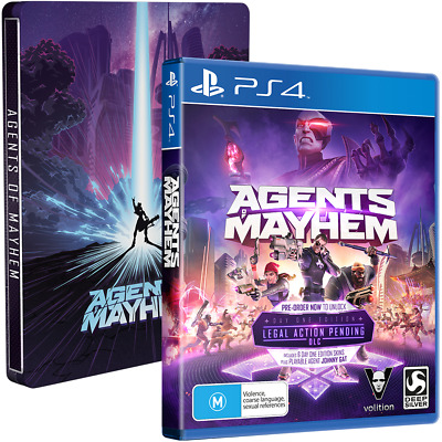 Agents Of Mayhem Steelbook Edition Action RPG Game For Sony Playstation 4 PS4