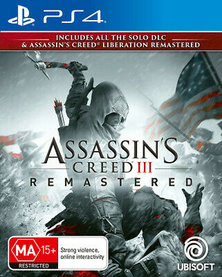 Assassins Creed 3 Remastered Sony PS4 Playstation 4 RPG Action Adventure Game