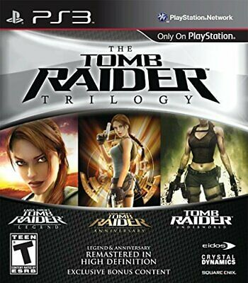 The Tomb Raider Trilogy Lara Croft RPG Action 3-in-1 Game Sony PS3 Playstation 3