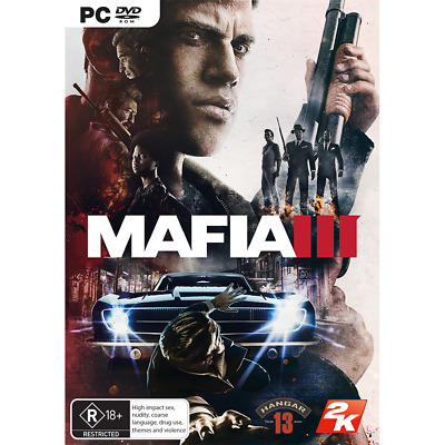 Mafia III 3 Gangster Role Play Action Strategy Computer Game For Windows PC DVD