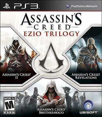 Assassins Creed Ezio Trilogy 3 RPG Action Adventure Games Sony PS3 Playstation 3