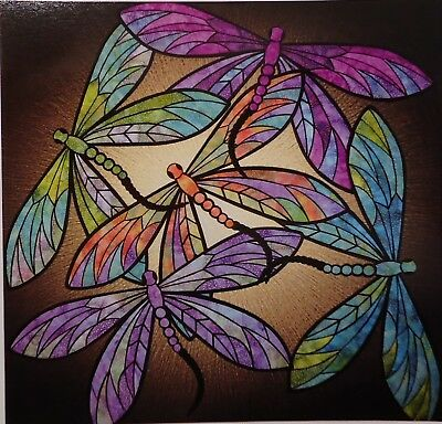 "DANCE OF THE DRAGONFLIES Applique Quilt PATTERN 40"" x 40"" by JoAnn Hoffman"