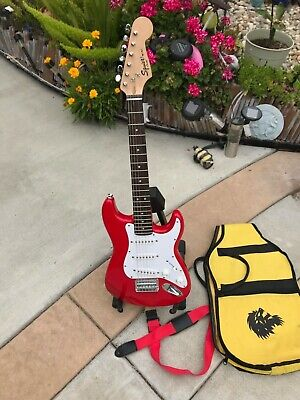 """2012 Squier By Fender Mini Stratocaster W/Levi Small Strap & Gig Bag """"Mint"""""""