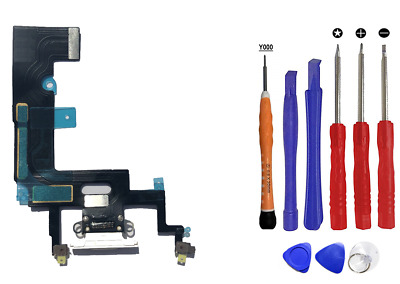 OEM Charger Charging Port Dock Flex Cable Mic Replacement iPhone XR White Kit