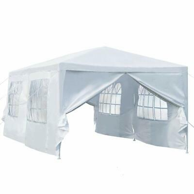 Large 3x6m Gazebo Marquee Canopy Outdoor Patio Garden Wedding Party Tent White