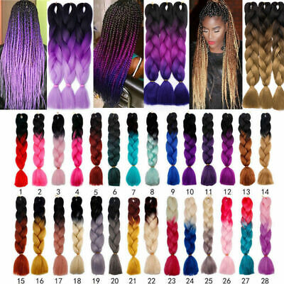 "10 packs 24""Ombre Xpression Jumbo Synthetic Braiding Hair 100g 2-3 Day Shipping"