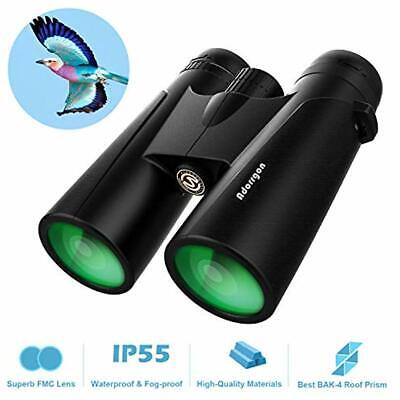 12x42 Roof Prism Binoculars For Adults - Professional HD Birds Watching Hunting
