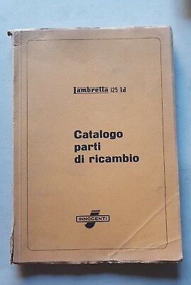 Innocenti Lambretta 125 LD catalogo ricambi originale spare parts catalogue