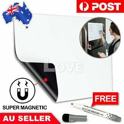 A5 Fridge Magnetic Whiteboard + Marker Memo Reminder Board Pen Eraser Magnet Lar