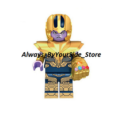 RARE LEGO MINIFIGURE THANOS with infinity gauntlet AVENGERS ENDGAME MARVEL