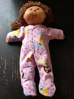 Homemade Cabbage Patch Doll Pink with Mermaids Coverall Pyjamas