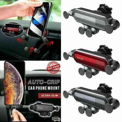 Auto-Grip Universal Car Phone Holder Gravity Air Vent Mount For iphone Huawei UK