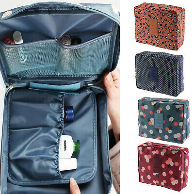 Travel Cosmetic Makeup Storage Bag Shower Wash Carrying Case Toiletry Pouch AU