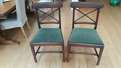 2 antique dining chairs, mahogany