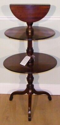 Good Quality Antique 19Th Century Mahogany Dumb Waiter Serving Sofa Table