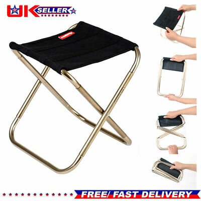 Portable Aluminum Folding Chair Stool Seat For Outdoor Fishing Garden Camping UK
