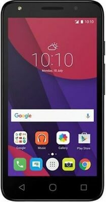 "Alcatel Pixi 4 Smartphone 4"" 512MB 4GB 3G Android 6.0 Black Unlocked Sim Free"