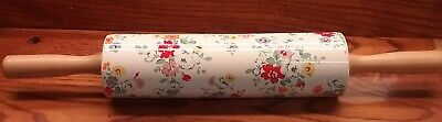 Cath Kidston Clifton Rose White Floral Ceramic Rolling Pin Discontinued