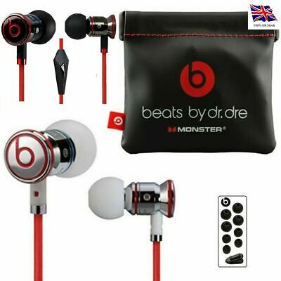 Genuine Monster Beats by Dr Dre iBeats urbeats In Ear Headphones Earphone Black