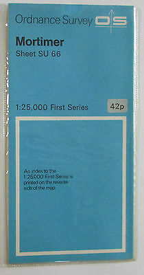 1961 old vintage OS Ordnance Survey 1:25000 First Series map SU 66 Mortimer
