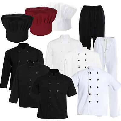 Chefs Jacket Chef Trousers Chef's Hat Cap Chefwear Unisex Catering Food