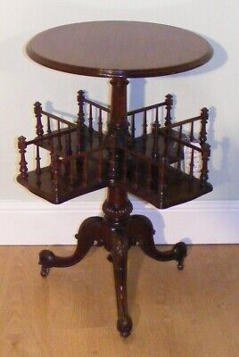 Good Quality Antique Mahogany Occasional Table Book Trough