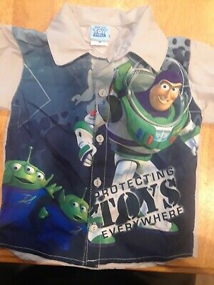Disney Toy Story Buzz Lightyear  boys shortsleeve 2T button down shirt. Preowned