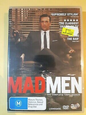 Mad Men : Season 3 [ 3 DVD Set ] BRAND NEW & SEALED, Free Next Day Post from NSW