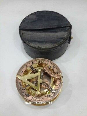 Vintage Nautical Astrolabe Desktop West London Sundial Compass 3 Inches