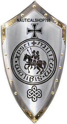"""Knight Shield Replica Medieval Reenactment & Reproduction 32"""" Armor Shield Gift"""
