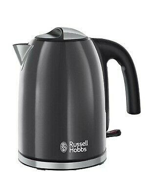 Russell Hobbs Colour Plus Stylist Kettle, 3000 W, 1.7 Liter , Grey - 20414 ,