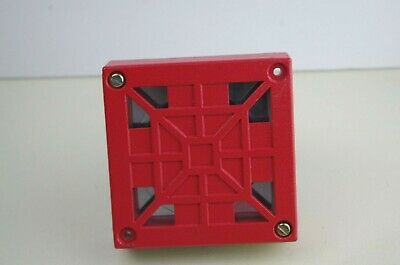 Wheelock  Loud Red Electronic Fire Horn  34T 24 VDC  Fire Alarm