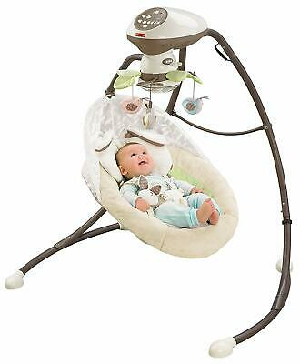 Fisher-Price Snugabunny Cradle 'N Swing (With Smart Swing Technology)
