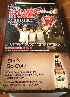"""Rolling Stones Poster A Bigger Bang Tour 2005 Canada She's So Cold 39"""" x 23.5"""""""