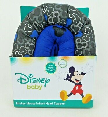 Disney Mickey Mouse Infant Head Support Blue Machine Washable