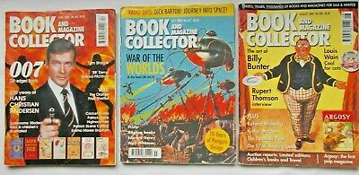 Lot of 3x BOOK and MAGAZINE COLLECTOR magazines 2005 - 007, Penguin,Billy Bunter