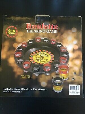 Casino Shot Glass Roulette Drinking Game Set With 16 Shot Glasses