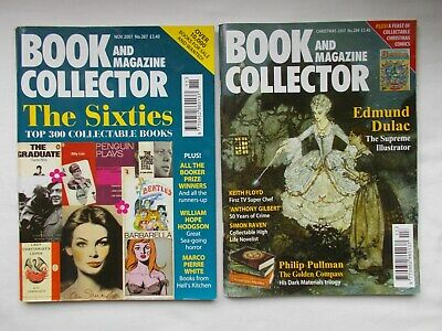 2 x BOOK and MAGAZINE COLLECTOR magazines 2007, no's 287,289- Pullman,Dulac-MINT