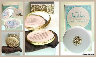 lot of 2 vintage compacts Pond's Angel Face Golden Petal and Avon refillable new