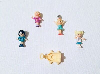 Vintage Polly Pocket Lil Pet Carts Baby Time Fun Stampin School Ballerina Charm