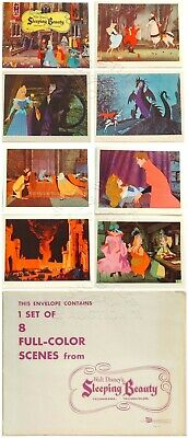 Rare Unused 1St Release Set Of Lobby Cards From Disney's Sleeping Beauty (1959)
