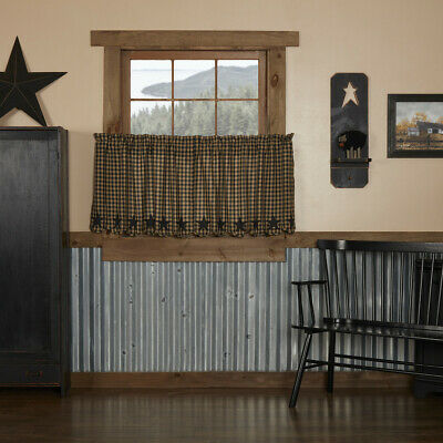 "Abilene Star 24"" Tier Set Rustic Country Western Brown Khaki Striated Cafe'"